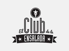 El Club de la Ensalada   Brandbook Logo on Behance