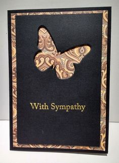 Cards / Karten Perfect allusion sympathy card Bridal Jewelry - Th Sympathy Card Sayings, With Sympathy Cards, Embossed Cards, Cricut Cards, Greeting Cards Handmade, Butterfly Cards Handmade, Hand Made Greeting Cards, Card Sketches, Masculine Cards
