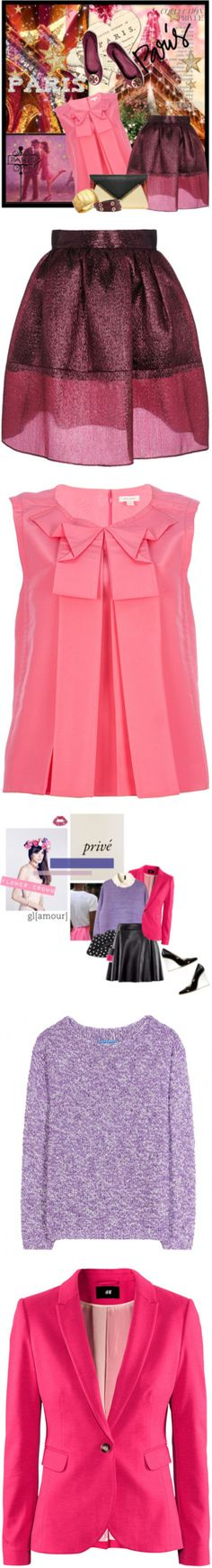 """""""Tricky Trend: Pink and Purple"""" by polyvore-editorial ❤ liked on Polyvore"""
