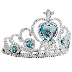 Disney Frozen Tiara Crown - Silver with Blue Elsa and Anna Heart Jewel ** To view further for this item, visit the image link. (This is an affiliate link) Princess Toys, Disney Princess Dresses, Frozen Elsa And Anna, Disney Frozen Elsa, Disney Frozen Nails, Frozen Toys, Frozen Stuff, Frozen Birthday Party, Disney Merchandise