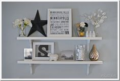 PBJstories: Floating Shelf Fix -- that one stubborn project, staging shelf items