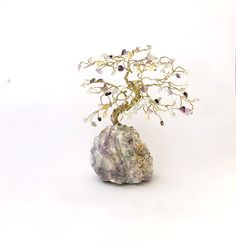Mini Fluorite Gemstone Tree / Tall / Easter Tree, Cute Gifts for Mom, Colorful Small Shelf Decor, Crystal Decor, Wedding Cake Toppers Crystal Tree, Crystal Decor, Crystal Gifts, Family Tree Art, Tree Of Life Art, Cute Gifts For Friends, Gifts For Mom, Cute Desk Decor, My Gems