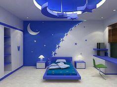 Lindo cuarto azul, infantil y juvenil de