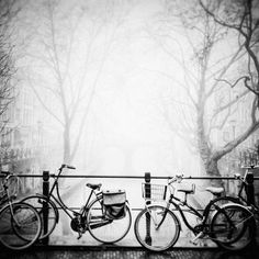 Still Life by ~sneakazz  Photography / Urban & Rural / City Life  Bicycles on an Oudegracht bridge, Utrecht, Netherlands.