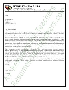 media librarian cover letter sample - Librarian Cover Letter Sample