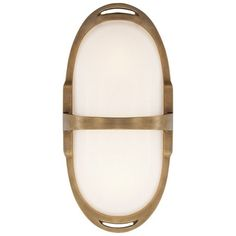 Westbury Double Sconce in Natural Brass with White Glass - New Arrivals - Lighting - Products - Ralph Lauren Home - RalphLaurenHome.com
