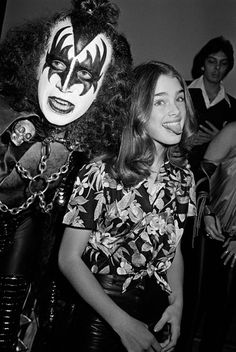 Gene Simmons and a thirteen year old Brooke Shields, 1979.