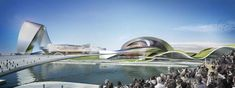 Designed by Coop Himmelb(l)au. Coop Himmelb(l)au has come up with an incredibly unique design for the new Grand Theatre and International Culture & Art Center. Public Architecture, Architecture Magazines, Changsha China, Zaha Hadid Architects, Chinese Garden, Himmelblau, Architectural Elements, Sustainable Design, Beautiful Landscapes