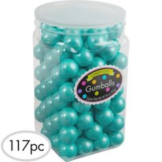 Robin's Egg Blue Gumballs 117pc - Party City