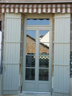 Porte fen tre tierc avec imposte vitr e partie haute for Porte avec fenetre guillotine