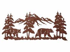 """57"""" Bears in the Pines Metal Wall Art"""