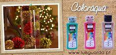 As tintas Coloraqua funcionam bem em qualquer suporte! Experimente pintar umas pinhas de verde, vermelho e dourado e coloque naquele cantinho da sua casa!!   http://www.luisguarda.pt/produtos/tintas-1