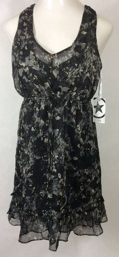 New Womens Camo 'Ebony Print' CONVERSE ONE STAR Dress #283206 / Sleeveless (S) #ConverseOneStar #Sleevles #Casual