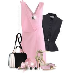 """""""Black & Pink"""" by celinecucci on Polyvore"""