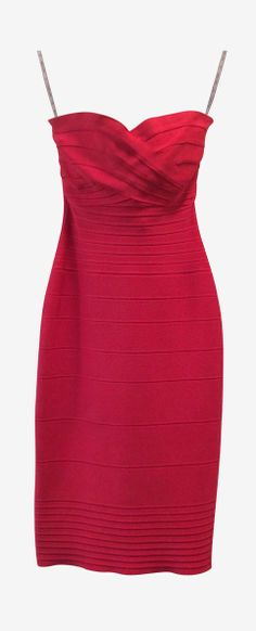red body con dress. yes, please!