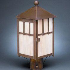 Northeast Lantern Lodge 1 Light Lantern Head Finish: Dark Brass, Shade Type: Clear