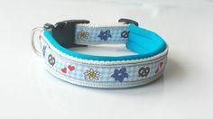 Hundehalsband nach Maß. Gurtbandfarbe sowie die Farbe von der Polsterung ist natürlich individuell. http://leinenspezi.de/shop/#h=1618-1397645913802