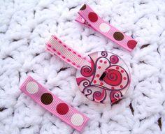 valentine hair clips by Snugglebugkidz