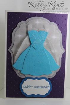 I made a series of Frozen cards in the lead up to Maddie's party as part of the fun. I'll start by sharing Elsa with you as she is the 'pin-up' girl of Frozen. I am so sad that the Dress Up Frame...