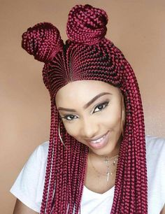 Wig Efe - Braided Wigs by Jay # large scalp Braids Habiba Braids Wig Cute Box Braids, Short Box Braids, Blonde Box Braids, Braids Wig, Tight Braids, Braid Hair, Hair Twists, Short Hair, Ghana Braids