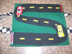 A Wednesday Afternoon: Take Along Race Track & Toy Car Holder