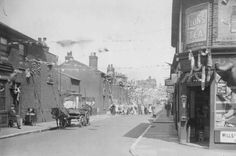 Western Street, Stratford (looking towards Angel Lane). Old London, Back In The Day, Newham, West Ham, Westerns, Old Things, Street View, Angel, Silver