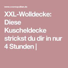 XXL-Wolldecke: Diese Kuscheldecke strickst du dir in nur 4 Stunden  