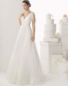 """Fashion and luxury unite in the 2014 bridal collection of Rosa Clara wedding dresses."""" See the Part I of Rosa Clara line below! Rosa Clara Wedding Dresses, V Neck Wedding Dress, Wedding Dresses 2014, Princess Wedding Dresses, Tulle Wedding, Mod Wedding, Bridal Dresses, Wedding Gowns, Bridesmaid Dresses"""