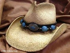 1e20d965b092c Shady Brady Crushable Raffia Western Hat with Berber Bead Band (1DW52) sold  by CowboyHatCountry.com