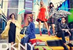 Cara Delevinge and Jourdan Dunn for DKNY SS14 Campaign