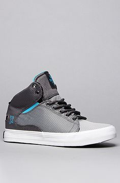 The Society Mid Sneaker in Grey Rip-Stop Canvas & Neon Blue by SUPRA Use code buck19 to get 20% off the first time you use it and 10% off every time after that! EXPIRES NEVER! #KarmaLoop