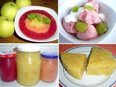 Co s přebytkem letních jablek? Ovocná dřeň je řešení. • Jablečná dřeň jako užitečná konzerva. • Jablečná dřeň pro děti, babičky a dědy, ale i pro běžné vaření. • Jablečná pěna a domácí nadýchaná ovocná zmrzlina z jablečného základu. • Jablečná šťáva s meduňkou jako vedlejší produkt. • Co s jablečnými slupkami? Nasušíme je na ovocný čaj. • Apple Dessert Recipes, Cantaloupe, Pudding, Fruit, Food, Eten, Puddings, Meals, Diet