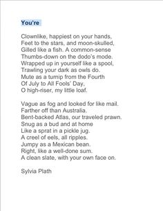 "sylvia plaths words and phrases that express her feelings about pregnancy Exploring depression in sylvia plaths  sylvia plath's two dads sylvia plath composed her most  ""the fish"" by elizabeth bishop words and phrases that."