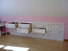 images of storage in bonus room above garage Attic Bedrooms, Upstairs Bedroom, Closet Bedroom, Dormer Bedroom, Attic Storage, Craft Room Storage, Wall Storage, Garage Storage, Room Above Garage