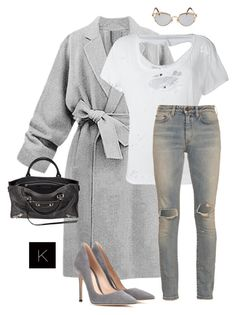 """Untitled #3997"" by kimberlythestylist ❤ liked on Polyvore featuring Unravel, Yves Saint Laurent, Gianvito Rossi, Balenciaga and Jean-Paul Gaultier"