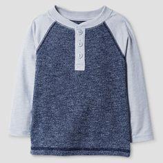 Baby Boys' Henley Shirt Heather Cat & Jack - Navy Voyage 12M, Infant Boy's, Size: 12 M, Heather Navy