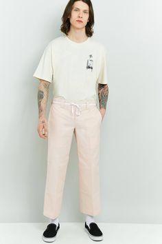 Slide View: 1: Dickies 873 Pink Slim Straight Work Trousers