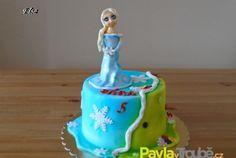 Dětský dort s Elsou