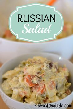Click aquí para versión en español     How funny is it that a salad that comes all the way from Russia is so popular in so many different c...
