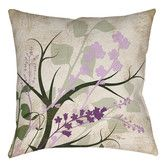 Found it at Wayfair - Lavender and Sage Flourish Printed Polyester Throw Pillow