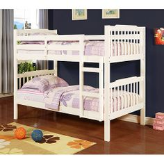 Elise Bunk Bed, Soft White.  For $230 you get two beds!  Perfect for  girls.