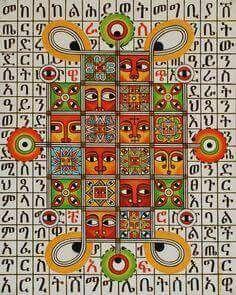 Ethiopian Art, Abba Yahudah, Ethiopian Orthodox, Paintings Flat Art, Oil Acrylic Canvas Paint http://www.abbayahudah.com/