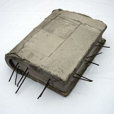 Miklos Onucsan, The Concrete Book, object, 54X36X11 cm, 1990