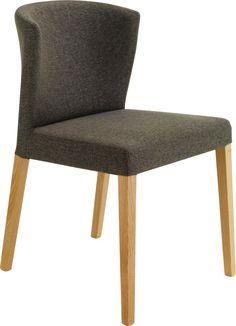 Valentina polstret spisestol grått tekstil i 100% bomull. Dimensjoner: D50 x H81 x B45cm, setehøyde: 48cm. Kr. 2535,-