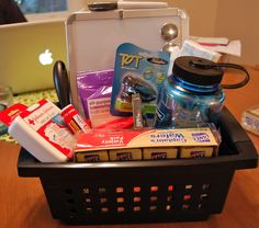 College bound student gift basket ideas