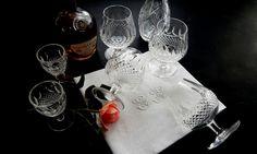 4 Vintage Waterford Crystal Balloon Brandy Glasses in 'Colleen' Pattern