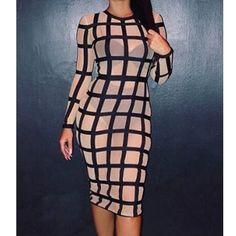 CHICUU - CHICUU Bandage Caged Panty Lined Dress - AdoreWe.com