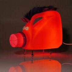lamparas creativas diseñadas con objetos que no usas más