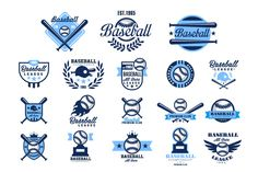 Baseball emblems or badges by TopVectors on Creative Market