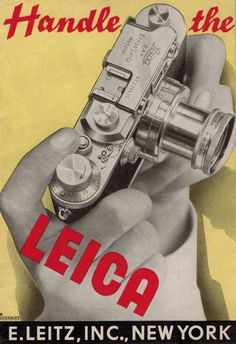 Handle the Leica Camera Leitz Original 1938 Sales Brochure II III IIIb